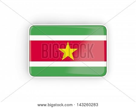 Flag Of Suriname, Rectangular Icon
