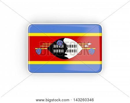 Flag Of Swaziland, Rectangular Icon
