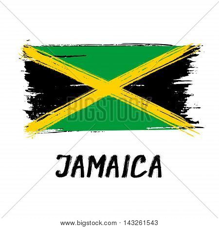 Flag Of Jamaica - Color Grunge Icon