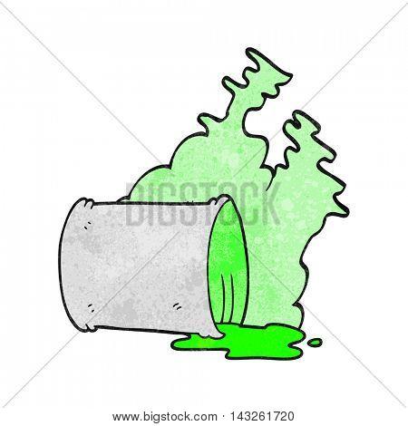 freehand textured cartoon spilled chemicals