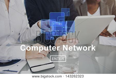 Computer Network Technology Digital Device Concept