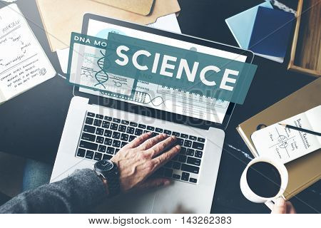 Science Scientist Study Technology Chemistry Concept