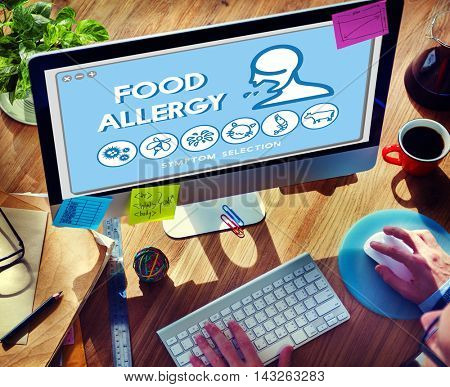 Food Allergy Disorder Sickness Healthcare Concept