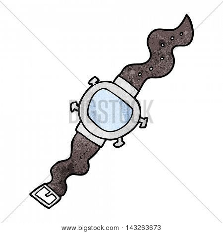 freehand textured cartoon wrist watch