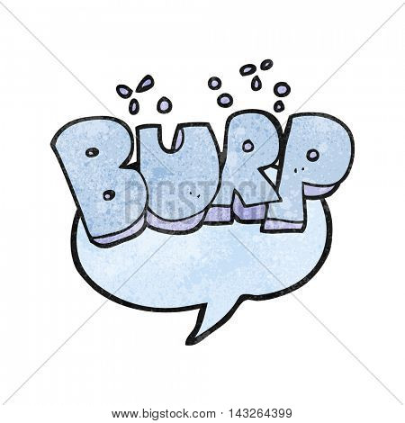 freehand textured cartoon burp symbol