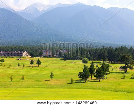 at the top of Pirin Mountain View (Todorka and Vihren) Golf Club in Razlog Bulgaria