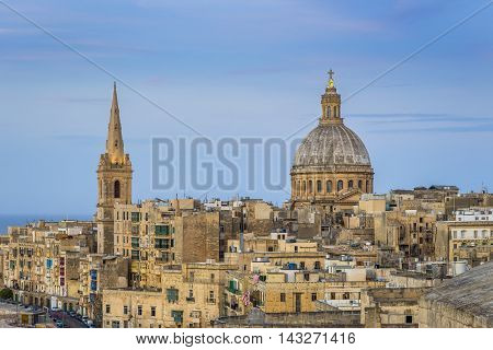 Valletta, Malta - St.Paul's Anglican Cathedral after sunset