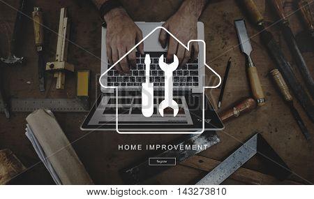 Technology Renovation Casual Craftsperson Concept