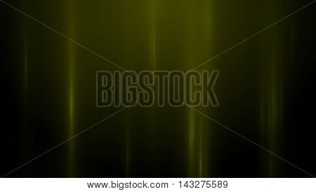 3d render abstract background with vertical light lines. Background with yellow lines in motion darks tones could be useful as a frame or a texture. Blurred light lines. 3D illustration.