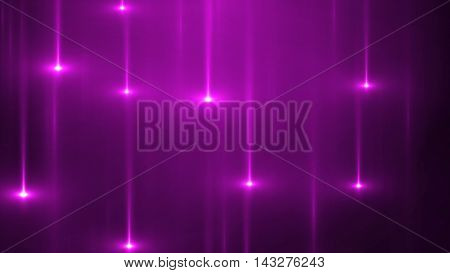 3d render abstract background with vertical light lines and flares. Background with purple lines in motion darks tones could be useful as a frame or a texture. Blurred light lines with flares. 3D illustration.