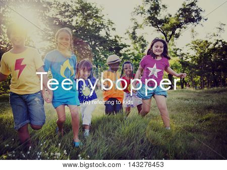 Teenybopper Young Children Youth Kids Concept