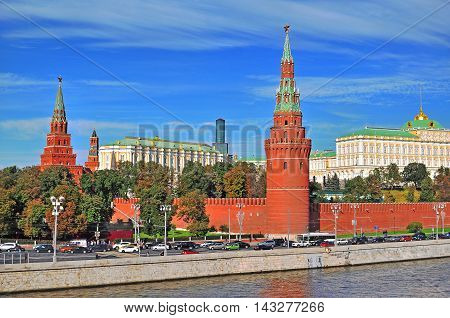 View of Moscow Kremlin and the riverside