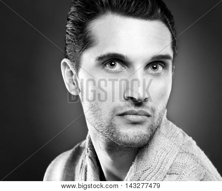 Handsome young man. Fashion young model man portrait. Handsome Guy.