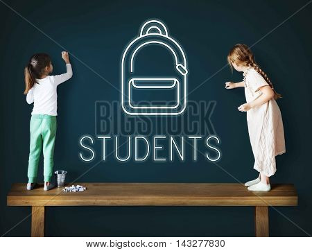 Education School Backpack Tutoring Concept