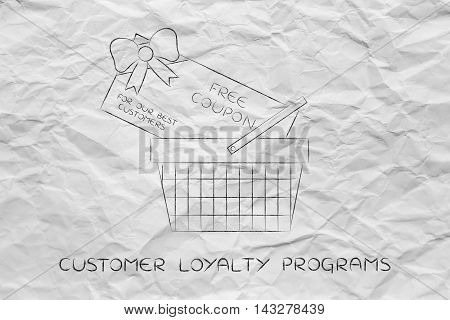 Shopping Basket With Huge Free Coupon