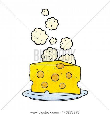 freehand textured cartoon cheese