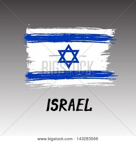 Flag Of Israel  - Color Grunge Icon