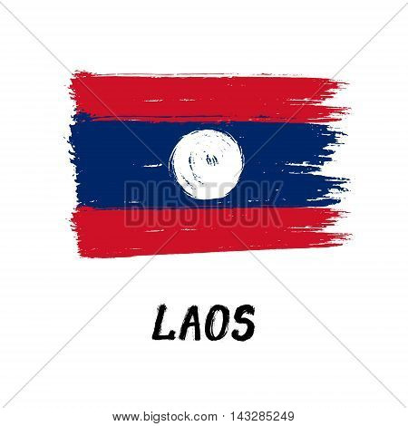 Flag Of Laos  - Color Grunge Icon