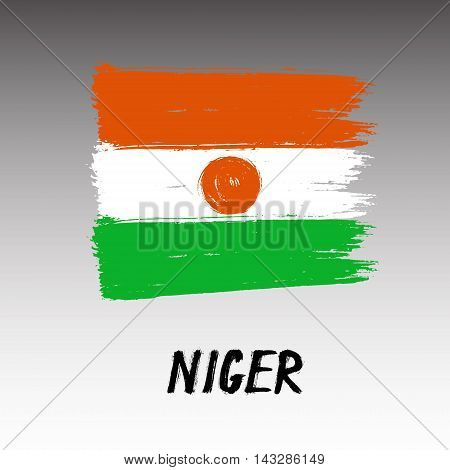 Flag Of Niger  - Color Grunge Icon