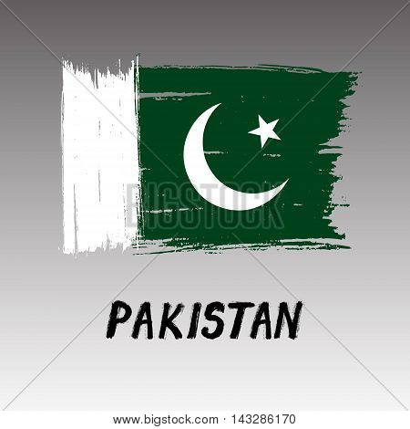 Flag Of Pakistan  - Color Grunge Icon