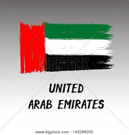 Flag Of United Arab Emirates  - Color Grunge Icon