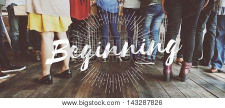 Beginning Aspiration Start Progress Launch New Concept