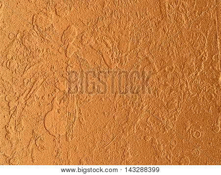 Relief brass surface. Stone or metal texture. 3d rendering