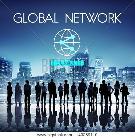 Global Network Globalization Technology Connect Concept