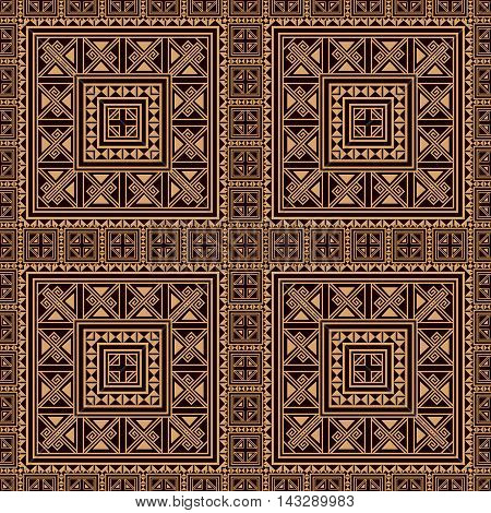 Seamless pattern background in beige and black colors. Ethnic style. Vector illustrations. Use this pattern in the design of carpet, shawl, pillow, textile, wrapping paper, wallpaper, ceramic tiles