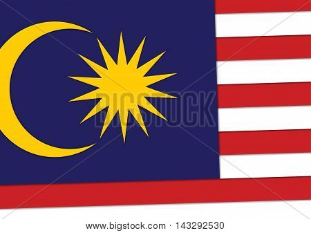 malaysia flag background material design vector illustration sign/symbol for independence day