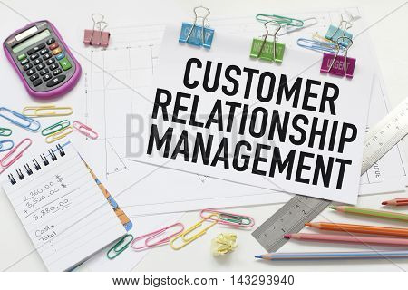 Customer relationship management business concept in office