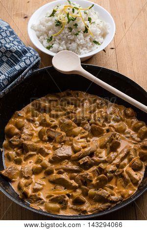 Stroganoff In Pan