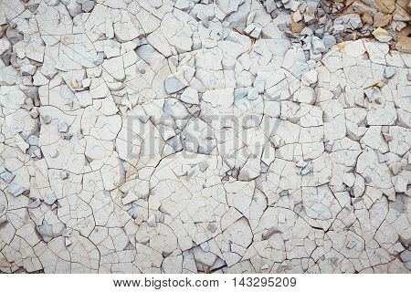 Cracked shale stone. Nature background. Shallow focus