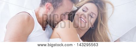 Man Caressing His Woman