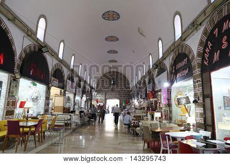 Ivaz Pasa Bazaar In Bursa City, Turkey