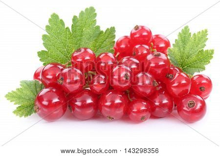Red Currant Currants Berries Fruits Fruit Isolated On White
