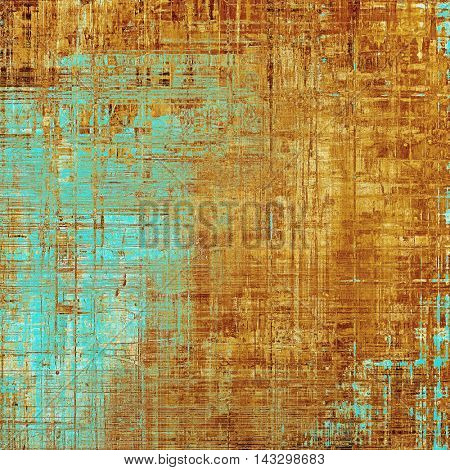 Abstract vintage colored background. With different color patterns: yellow (beige); brown; blue; red (orange)