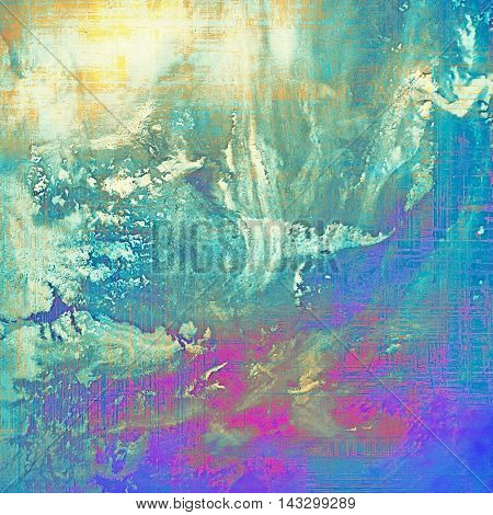 Abstract faded retro background or shabby texture with vintage style design and different color patterns: yellow (beige); blue; purple (violet); white; cyan; pink