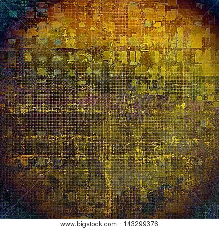 Old style design, textured grunge background with different color patterns: yellow (beige); brown; blue; red (orange); purple (violet); gray