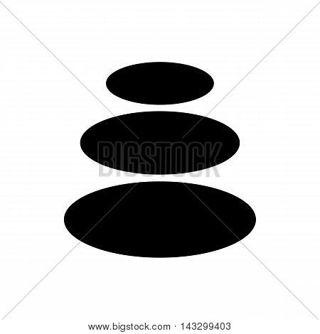 Basalt stones icon in simple style on a white background