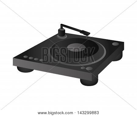 flat design small turntable icon vector illustration