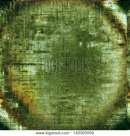 Spherical elegant vintage background, antique texture. Designed grunge template with different color patterns: yellow (beige); brown; black; red (orange); gray