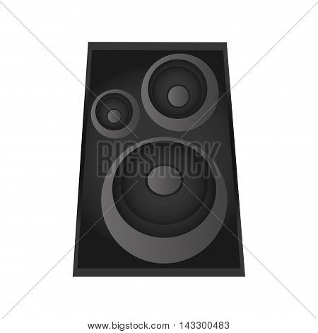 flat design music speaker icon vector illustration