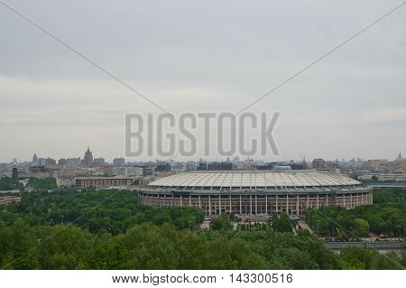 view of the stadium from the observation deck