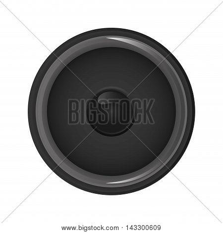 flat design music speaker icon vector illustration