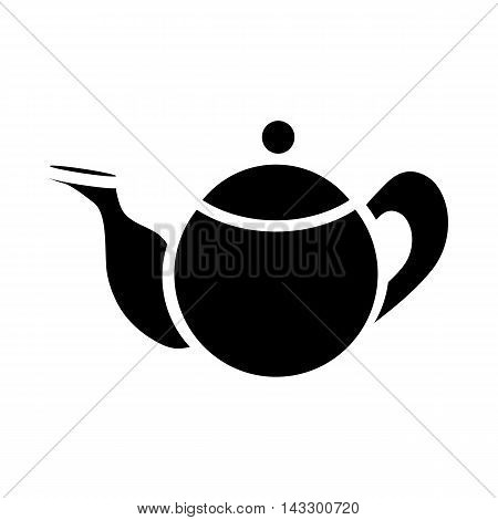 Teapot icon in simple style on a white background