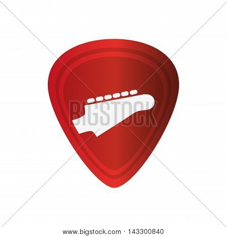 flat design Guitar pick icon vector illustration
