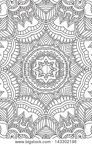 Mandala background. Round Ornament.Coloring book for adults. Oriental pattern, vector illustration. Islam and Arabic and Indian and turkish and pakistan, and chinese, ottoman motifs.