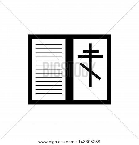 Bible book icon in simple style on a white background