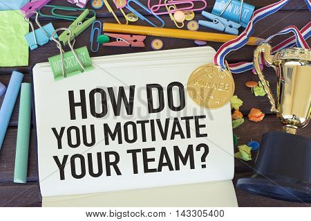 Team motivation and leadership business concept in office